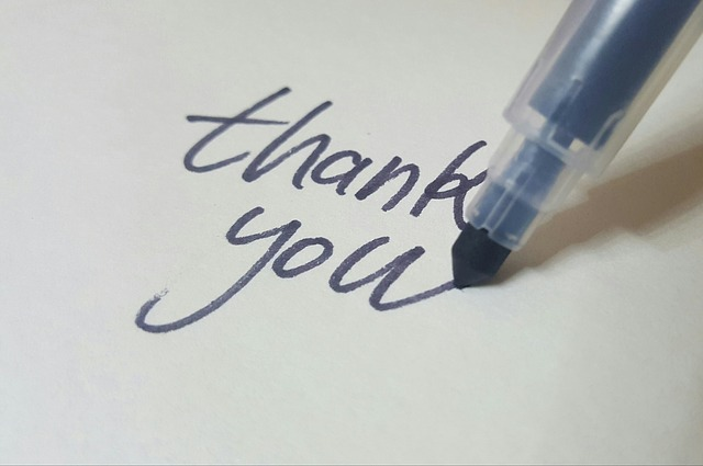 handwritten thank you